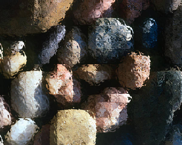 Rocks Poster featuring the photograph Abstract Of River Rocks 2 by Steve Ohlsen
