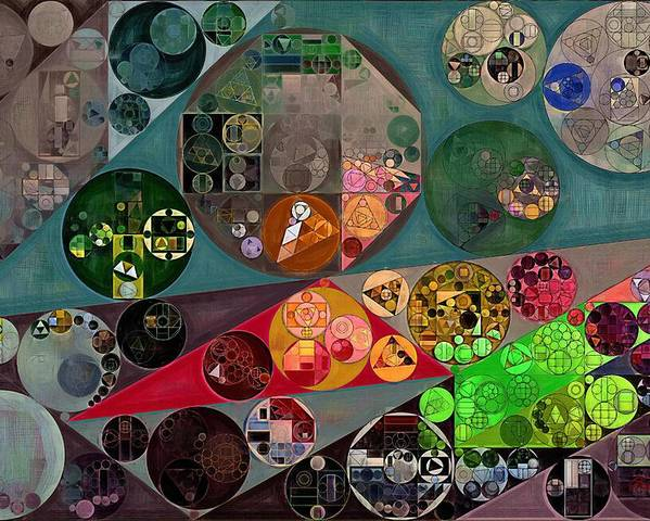 Abstract Painting Poster featuring the digital art Abstract Painting - Chicago by Vitaliy Gladkiy