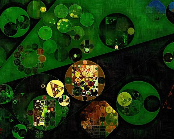 Paintings Poster featuring the digital art Abstract Painting - Lincoln Green by Vitaliy Gladkiy