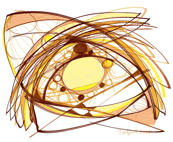 Abstract Art Poster featuring the drawing Abstract Pen Drawing Eleven by Lynne Taetzsch