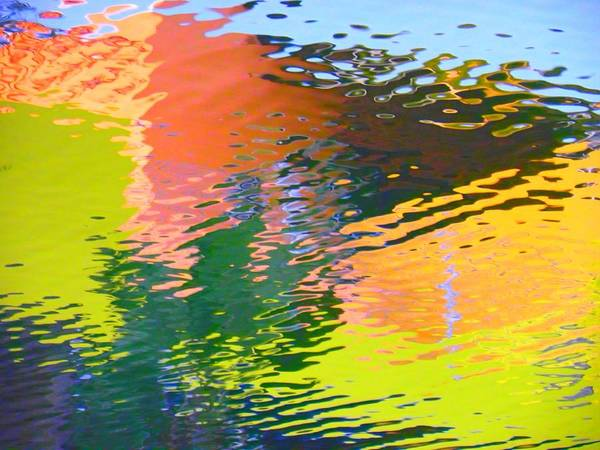 Abstract Poster featuring the photograph Abstract Reflection In Water 04 by Henry Murray
