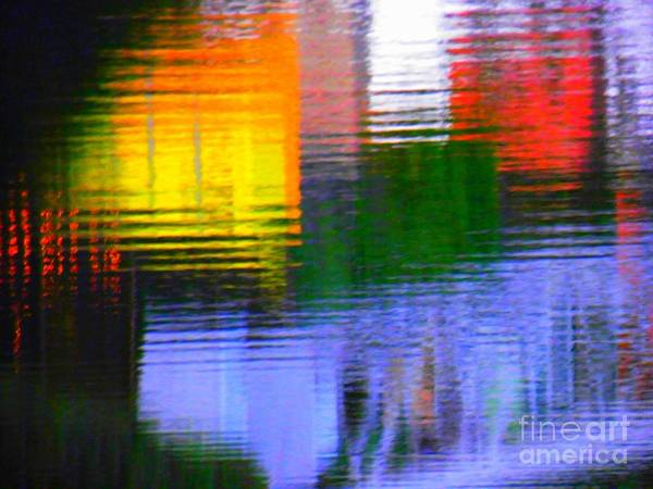 Abstract Poster featuring the photograph Abstract Reflections In Water 01 by Henry Murray