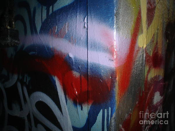 Abstract Urban Art Poster featuring the photograph Abstract Urban Art by Chandelle Hazen