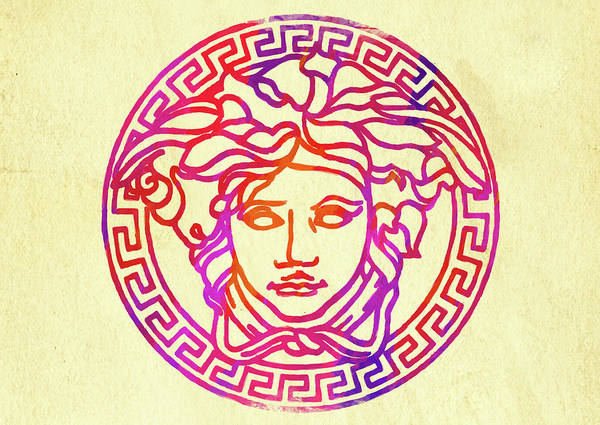Abstract Versace Logo Watercolor Ii Poster By Ricky Barnard