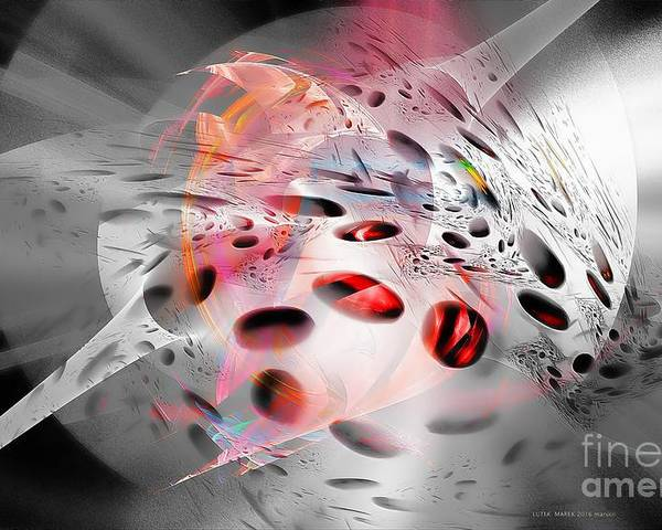 Abstraction Poster featuring the digital art Abstraction 3304 by Marek Lutek