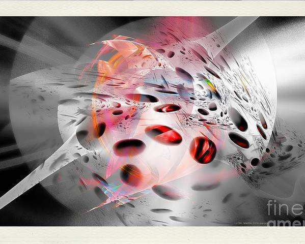 Abstraction Poster featuring the digital art Abstraction 3307 by Marek Lutek