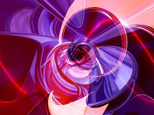 Digital Art Poster featuring the digital art Abstractum by Hariette Herrmann