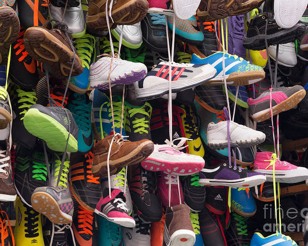 2014-11 Guatemala Poster featuring the photograph Abundance Of Shoes by Dan Hartford