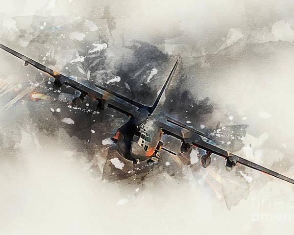 Canvas Gun on an AC-130 Art print POSTER