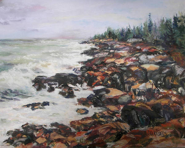 Acadia National Park Poster featuring the pastel Acadian Afternoon by Alicia Drakiotes