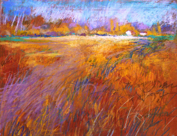 Landscape Poster featuring the painting Across The Fields by Dale Witherow
