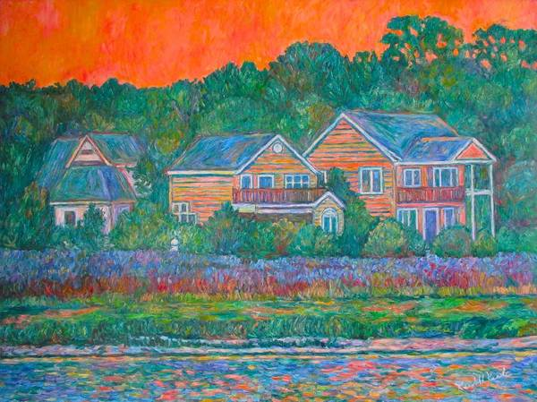 Landscape Poster featuring the painting Across The Marsh At Pawleys Island    by Kendall Kessler