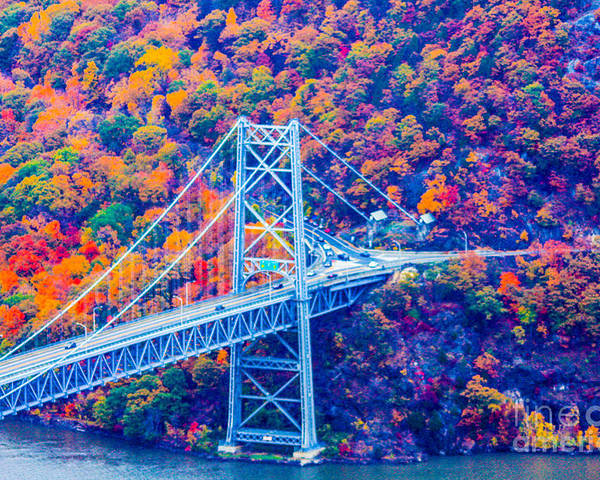 Bear Mountain Bridge Poster featuring the photograph Across The Other Side Of Bear Mountain Bridge by William Rogers