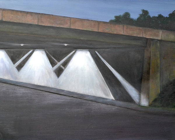 Bridge Poster featuring the digital art Acting Up Under The Bridge by Jacqueline Marks