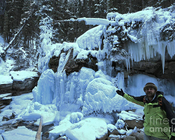 Poster featuring the photograph Adam Jewell Hiking In Maligne Canyon by Adam Jewell