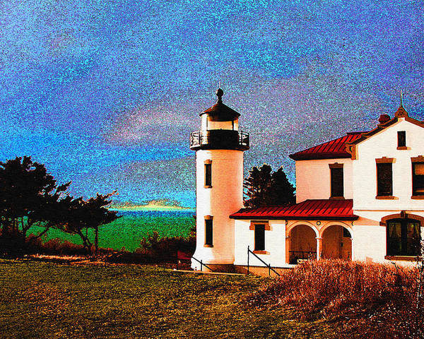 Lighthouse Poster featuring the photograph Admiralty Head Lighthouse Dp15 by Mary Gaines
