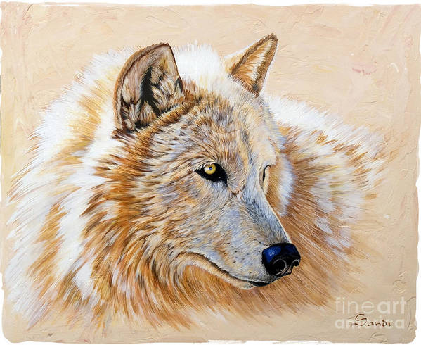 Acrylic Poster featuring the painting Adobe White by Sandi Baker