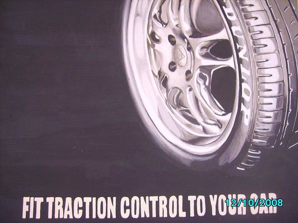 Wheel Poster featuring the digital art Adverts On Tyres by Olaoluwa Smith