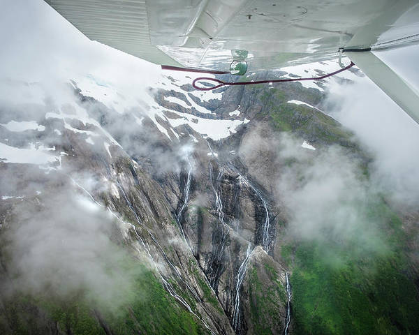 Alaska Poster featuring the photograph Aerial Waterfall by Stephanie Wolden