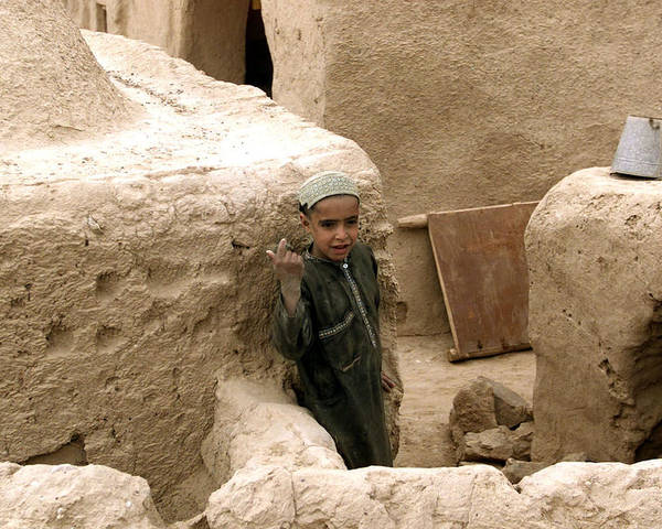Afghanistan Poster featuring the photograph Afghan Child by Thomas Michael Corcoran