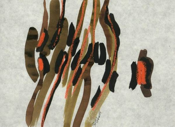 Abstract Poster featuring the painting Africa by B L Qualls