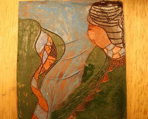 Jesus Poster featuring the ceramic art African Respect - Tile by Gloria Ssali