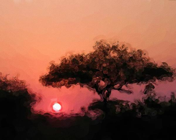 Digital Photography Poster featuring the photograph African Sunset by David Lane