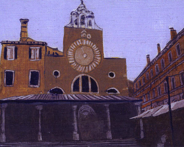 Landscape Poster featuring the painting After Campo San Giacometto by Hyper - Canaletto