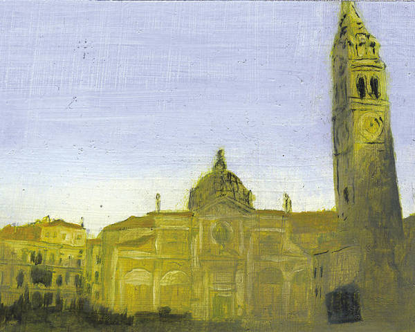 Landscape Poster featuring the painting After Campo Santa Maria Formosa by Hyper - Canaletto
