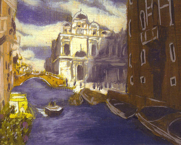 Landscape Poster featuring the painting After Church Of Santi Giovanni E Paolo With The School Of St. Mark by Hyper - Canaletto