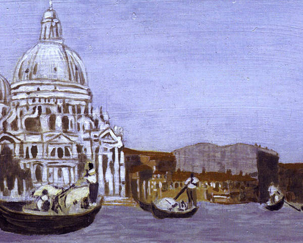 Landscape Poster featuring the painting After The Grand Canal And The Church Of The Salute by Hyper - Canaletto