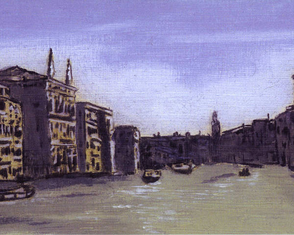 Landscape Poster featuring the painting After The Grand Canal From Campo San Vio Near The Rialto Bridge by Hyper - Canaletto