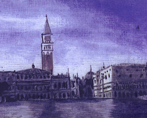 Landscape Poster featuring the painting After The Pier At San Marco by Hyper - Canaletto