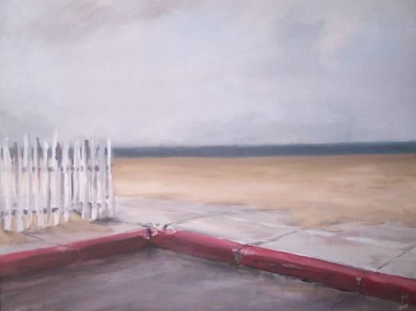 Rain Newport Beach Poster featuring the painting After The Rain Newport Beach by Philip Fleischer