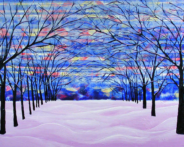 Landscape Poster featuring the painting After The Snow by Rollin Kocsis