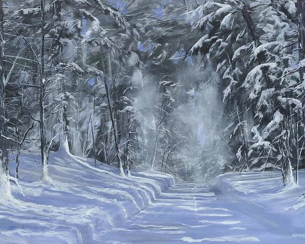 Snow Poster featuring the painting After The Storm by Ken Ahlering