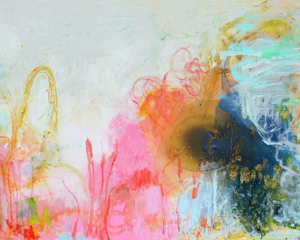 Abstract Poster featuring the painting Afternoon Snooze by Claire Desjardins