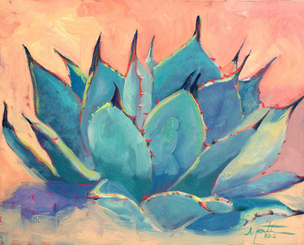 Plant Poster featuring the painting Agave 2 by Athena Mantle