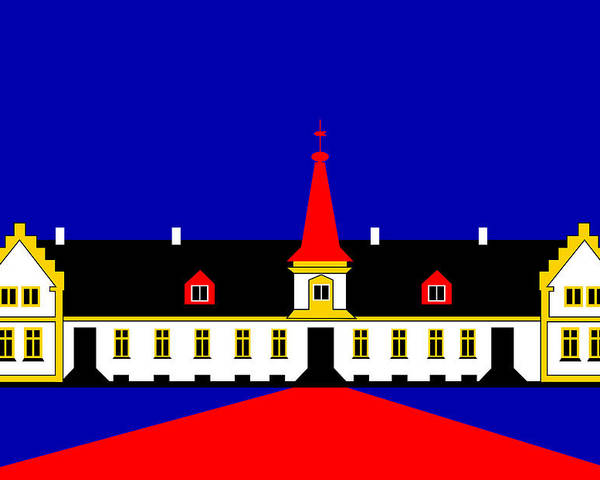 Manor House Poster featuring the digital art Agersboel Manor House by Asbjorn Lonvig