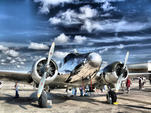 Airplane Poster featuring the photograph Air Hdr by Arthur Herold Jr