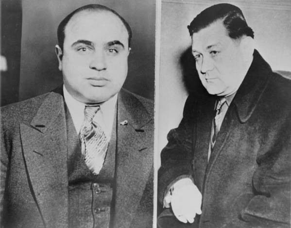 History Poster featuring the photograph Al Capone Left And His Rival, George by Everett