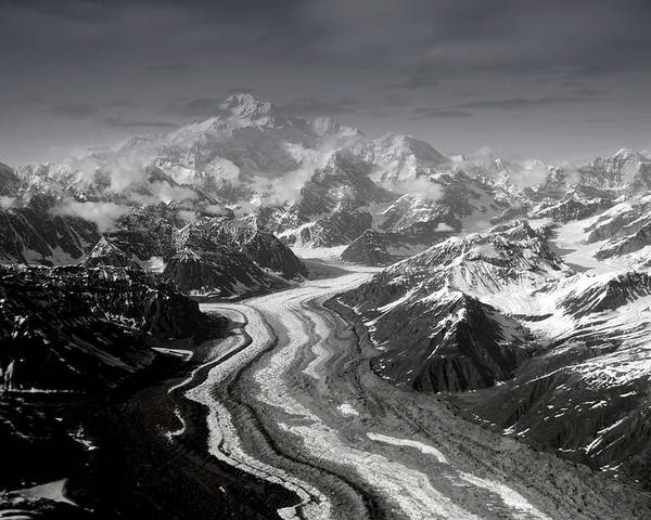 Glacier Poster featuring the photograph Alaska Range And Denali by Alasdair Turner