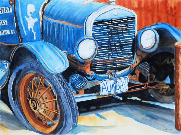 Car Poster featuring the painting Alaskan Rust II - Model T '27 by Gerald Carpenter