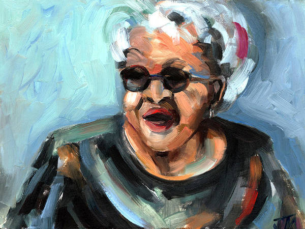 Portrait Poster featuring the painting Alberta Adams by Jackie Merritt