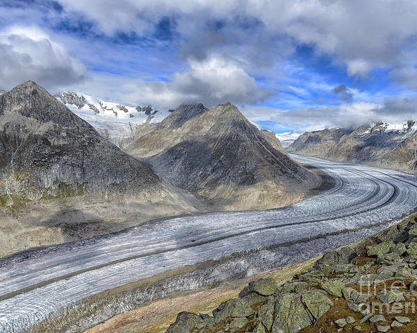 Aletsch Glacier Poster featuring the photograph Aletsch Glacier, Switzerland by Ivan Batinic
