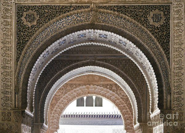 Alhambra Poster featuring the photograph Alhambra Arches by Jane Rix