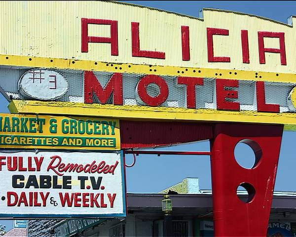 Alicia Motel Poster featuring the photograph Alicia Motel Las Vegas by Bill Buth
