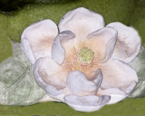 Flower Poster featuring the digital art Alien Bloom by Chuck Shafer