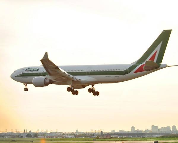 Alitalia Poster featuring the photograph Alitalia by Puzzles Shum