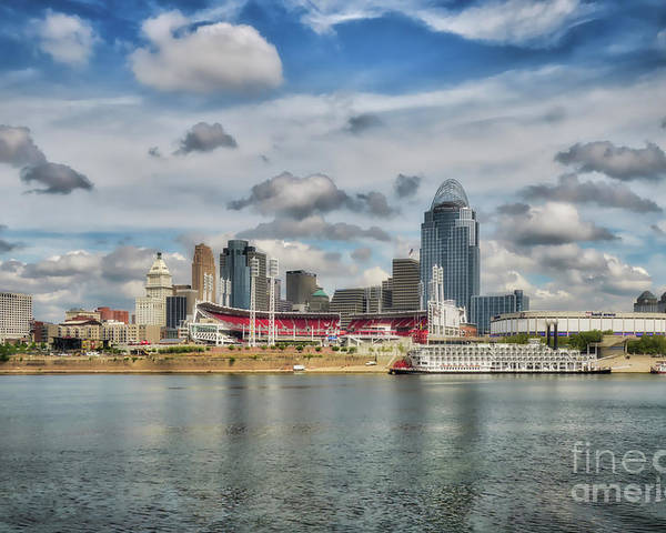 Cincinnati Poster featuring the photograph All American City 2 by Mel Steinhauer